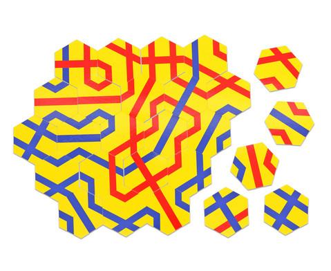 Betzold Streckenpuzzle Sechsecke 180 Karten