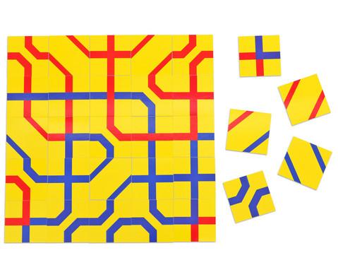 Betzold Streckenpuzzle Quadrate 240 Karten