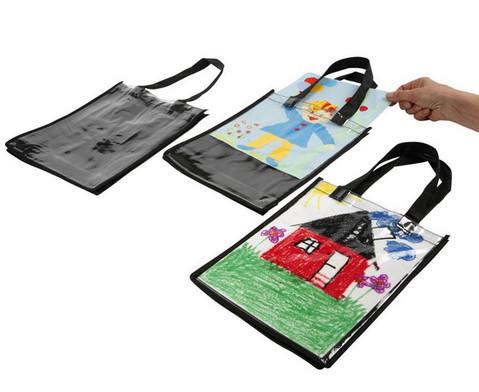 Tasche mit Einschub DIN A4 3 Stueck