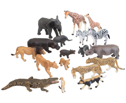 Afrikanische Tiere 18-tlg Set