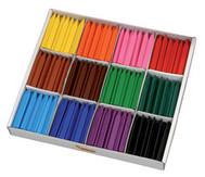 Wachmalstifte, Einzelfarben, 12 Stück