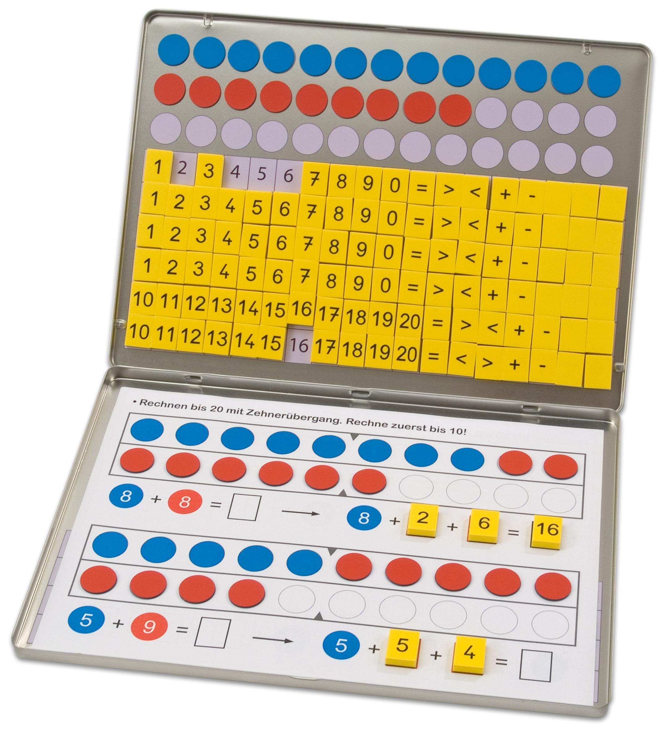 Betzold Rechenmagnetbox mit 30 Arbeitsblätter Mathematik Rechnen ...