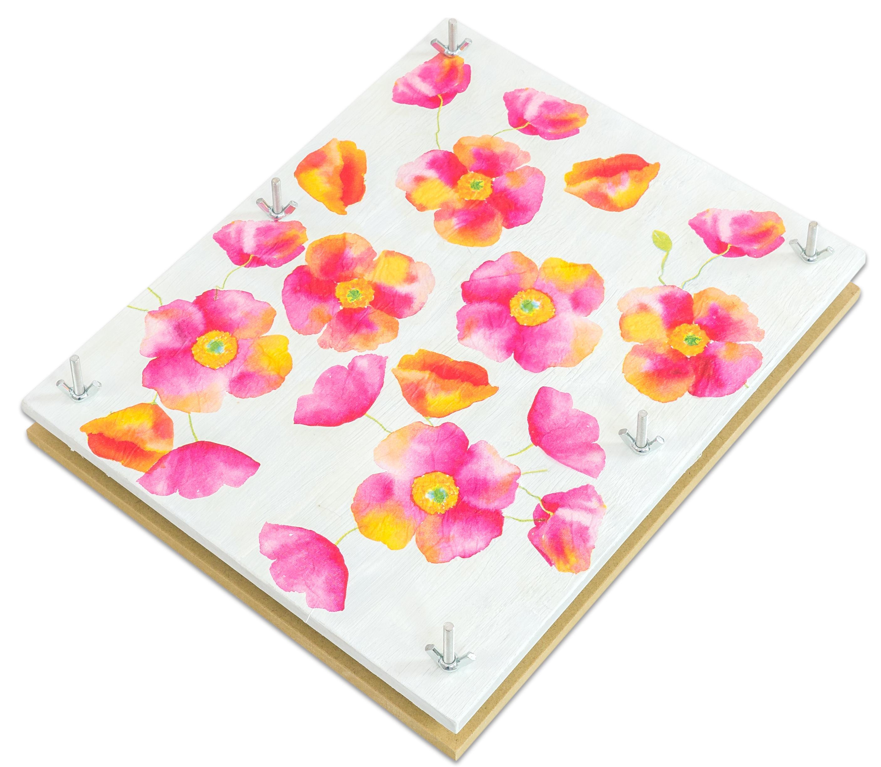 Grosse-Blumenpresse-aus-Holz-Pflanzenpresse-XXL-Bluetenpresse-fuer-Kinder-32x26-cm