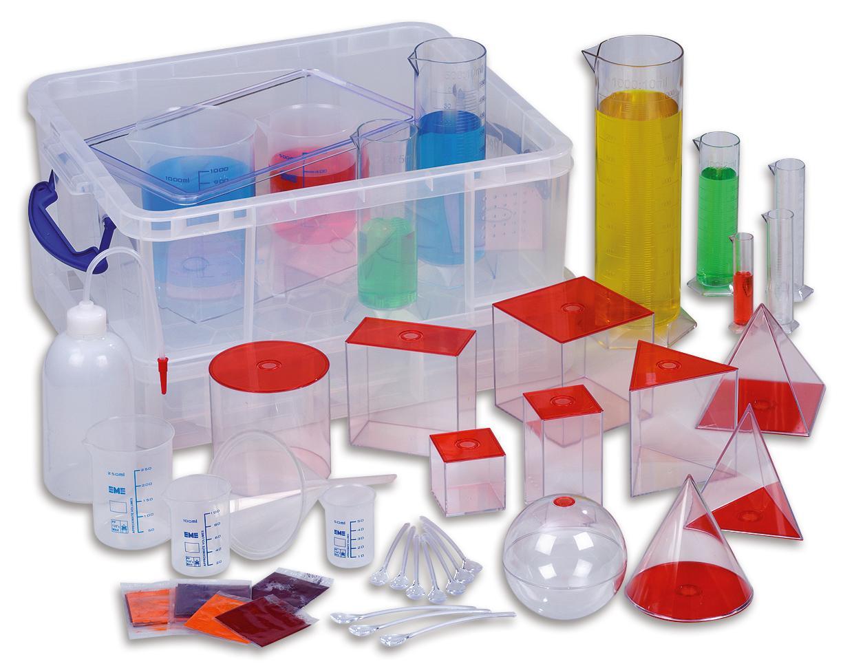 Mathematik Set für Volumen Experimente, Messzylinder, Messbecher ...